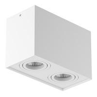 052086 RettangoСветильник точечный накладной декоративный под заменяемые галогенные или LED лампы